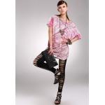 Black Grungy Shredded Women's Leggings Yoga Workout Capri Pants