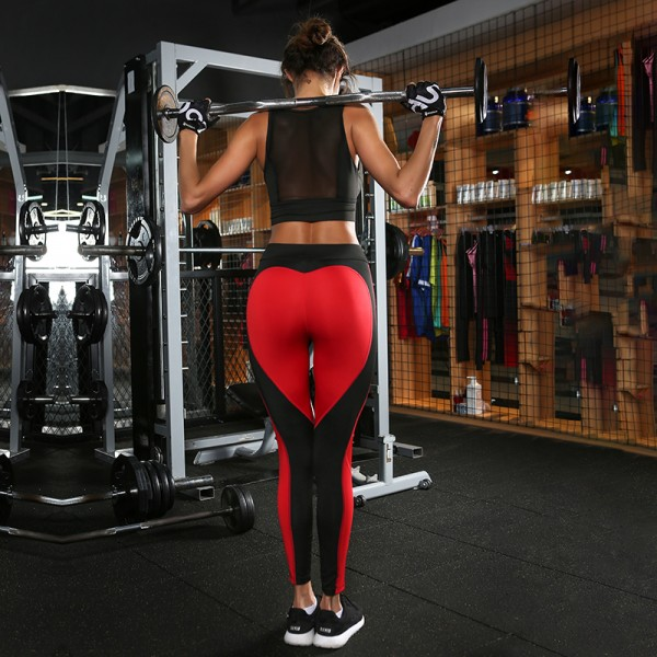 Heart Booty In Red Women S Leggings Printed Yoga Pants Workout