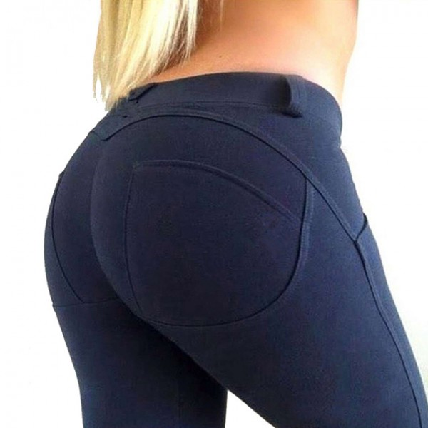 Push Up Jeggings Low Waist Women's Leggings Yoga Workout Capri Pants