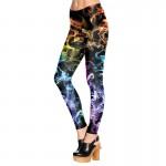 Neon Rainbow of Fire Women's Leggings Yoga Workout Capri Pants