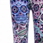 Pastel Day of the Dead Women's Leggings Printed Yoga Pants Workout