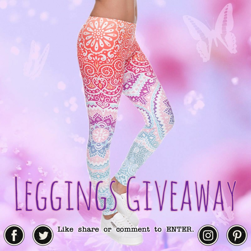 Win Our Pastel Pasiley Flowers Ombre Leggings!